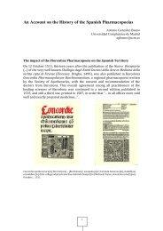 ISHPWG Spain - International Society for the History of Pharmacy