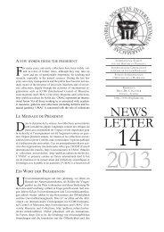Newsletter 14, 2013 - International Society for the History of Pharmacy