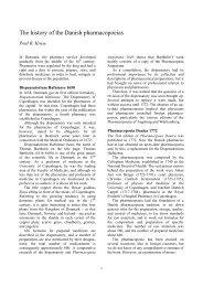 The history of the Danish pharmacopoeias - International Society for ...
