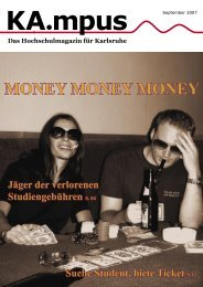 MONEY MONEY MONEY - HIT-Karlsruhe