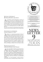 Newsletter 9, 2008 - International Society for the History of Pharmacy