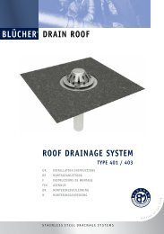 drain roof roof drainage SYSTEM - Blücher