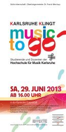 music to go: Flyer - HIT-Karlsruhe
