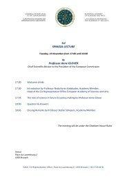 1st SPINOZA LECTURE Professor Anne GLOVER - European ...