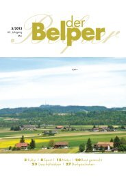 3 Kultur | 8 Sport | 15 Natur | 20 Bunt gemischt 23 ... - Der Belper