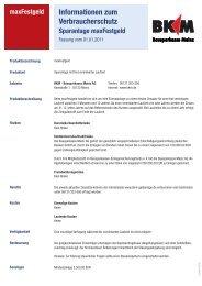 Informationen zum Verbraucherschutz - Bausparkasse Mainz AG