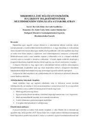 C4 - BME Hálózati Rendszerek és Szolgáltatások Tanszék ...