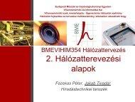Hálózattervezési alapfogalmak - BME Hálózati Rendszerek és ...