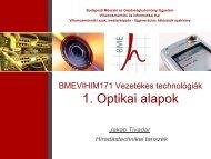 Optikai hálózati alapok - BME Hálózati Rendszerek és ...