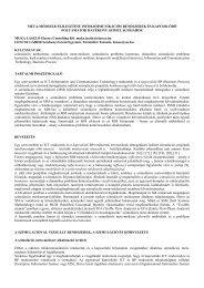 simulation and simulation environment - BME Hálózati Rendszerek ...