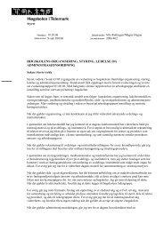 Høgskolens organisering, styring, ledelse og administrasjonsordning