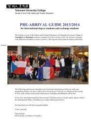 PRE-ARRIVAL GUIDE 2012/2013 - Høgskolen i Telemark