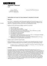 Årsrapport om verne- og miljøarbeidet i høgskolen for 2003