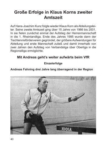1986 - 1992 - VfR Simmern Tischtennis