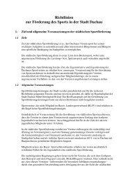 Sportförderrichtlinien gültig ab 20.03.2013 - Dachau
