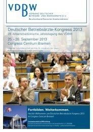 Deutscher Betriebsärzte-Kongress 2013 - Verband Deutscher ...