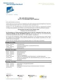 Einberufung - Allgemeiner Deutscher Hochschulsportverband