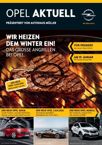OPEL AKTUELL - Autohaus Müller GmbH & Co. KG