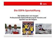 Die OSPA-Sportstiftung - OstseeSparkasse Rostock