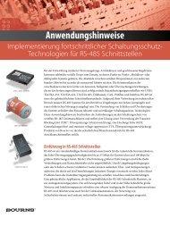 Anwendungshinweise - Energie & Technik
