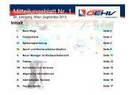 Mitteilungsblatt Nr. 1 - Österreichischer Eishockeyverband