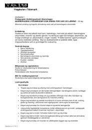 Studieplan PUB Barnehagens uteområder 2012-2013 - Høgskolen i ...