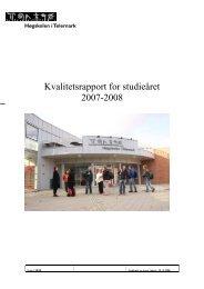 Kvalitetsrapport for studieåret 2007-2008 - Høgskolen i Telemark