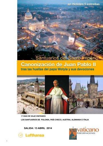 Canonización de Juan Pablo II ITIN 3