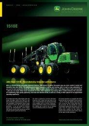 John Deere 1510E – Revolutionizing forwarder performance