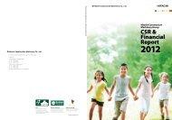 CSR & Financial Report - Hitachi Construction Machinery