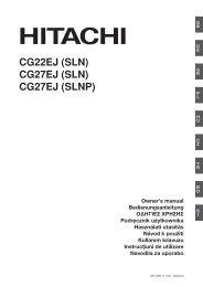 CG22EJ (SLN) CG27EJ (SLN) CG27EJ (SLNP) - Hitachi