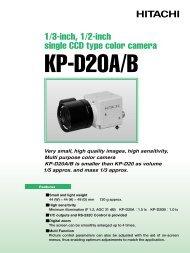 1/3-inch, 1/2-inch single CCD type color camera - Hitachi Kokusai ...