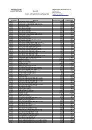Ceník náhradních dílů a příslušenstvi 2012 - Hitachi