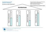 Arbeitshilfe Wohlbefinden 4 Säulen mit Skalen - Blaues Kreuz