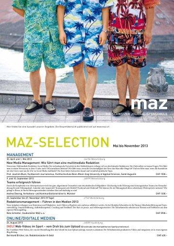 MAZ-Selection Frühling 2013