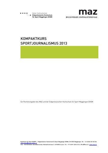 Nachdimplomkurs Wissenschaftsjournalismus 2005 - MAZ