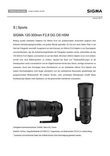 S   Sports SIGMA 120-300mm F2,8 DG OS HSM - Saturn