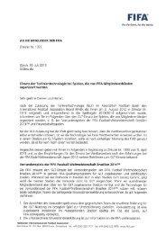 AN DIE MITGLIEDER DER FIFA Zirkular Nr. 1372 Zürich ... - FIFA.com