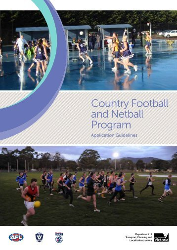 Country Football and Netball Program - Department of Planning and ...