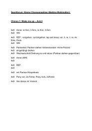 Sportforum: Kleine Choreographien (Bettina Wahlmüller): Choreo 1 ...