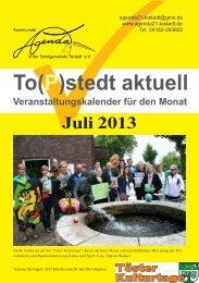 Juli 2013 - Kommunale Agenda 21 in der Samtgemeinde Tostedt eV