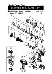 WR18DSHL Exploded Diagram and Parts Listing - Hitachi