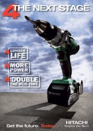 4THE NEXT STAGE - Hitachi Power Tools Australia Pty Ltd