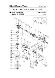 G13SE2 Exploded Diagram and Parts Listing - Hitachi