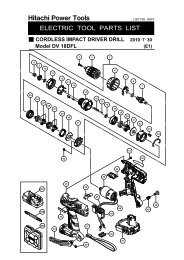 DV18DFL Exploded Diagram and Parts Listing - Hitachi
