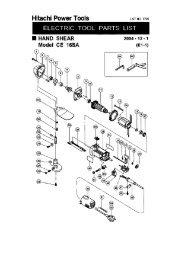 CE16SA Exploded Diagram and Parts Listing - Hitachi