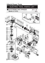 G13YC2 Exploded Diagram and Parts Listing - Hitachi