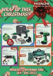 WRAP UP THIS CHRISTMAS! - Hitachi Power Tools Australia Pty Ltd