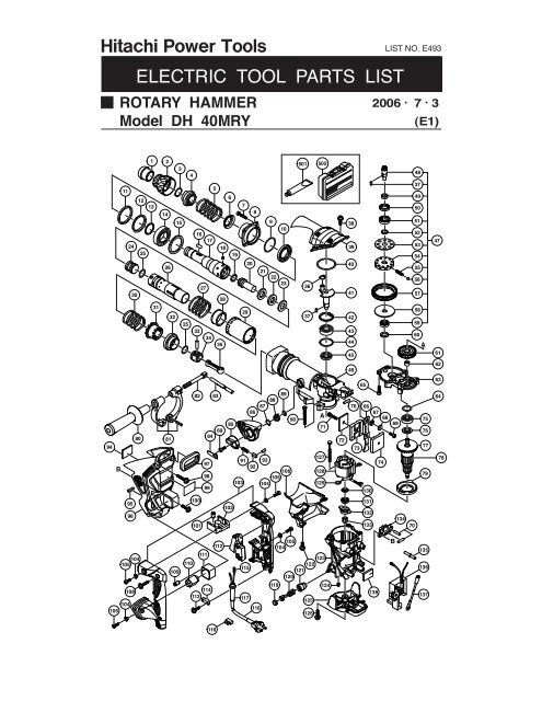 Dh40mry Exploded Diagram And Parts Listing