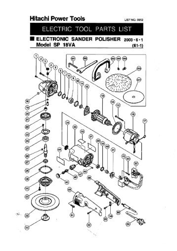 Dv18dbl Exploded Diagram And Parts Listing